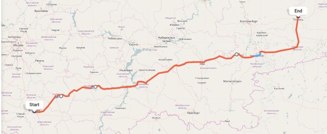Переезд из Воронежа в Тюмень