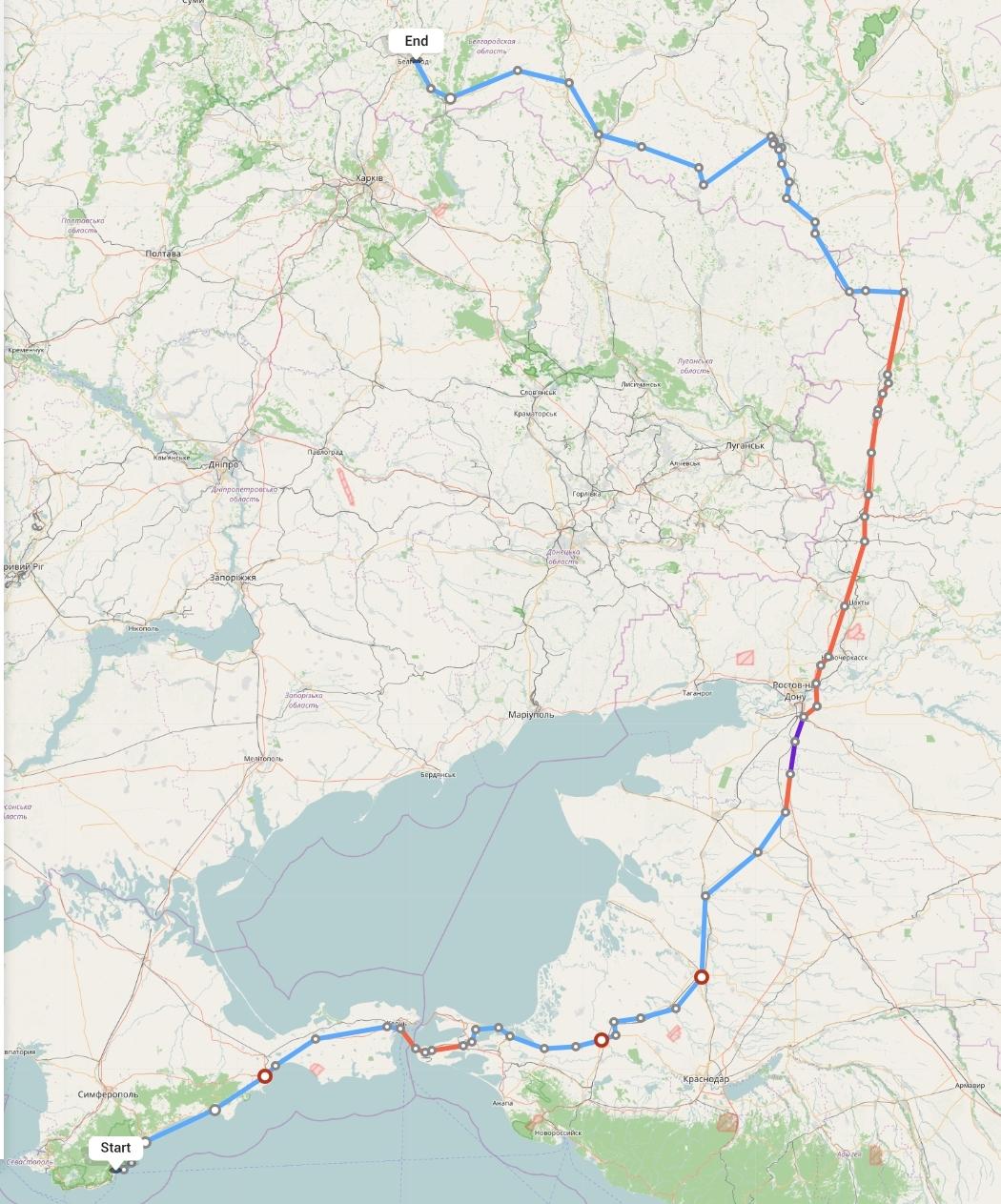 Переезд из Ялты в Белгород