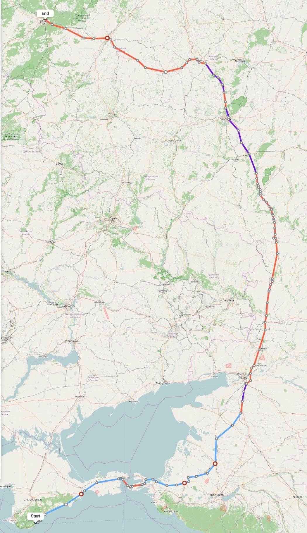 Переезд из Ялты в Брянск