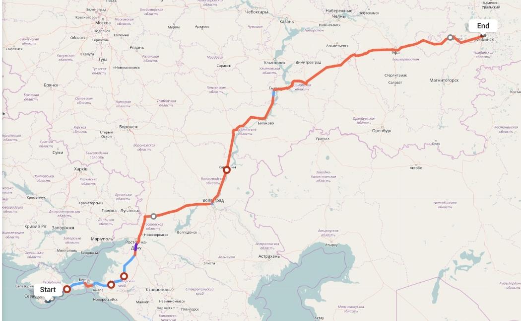 Переезд из Ялты в Челябинск