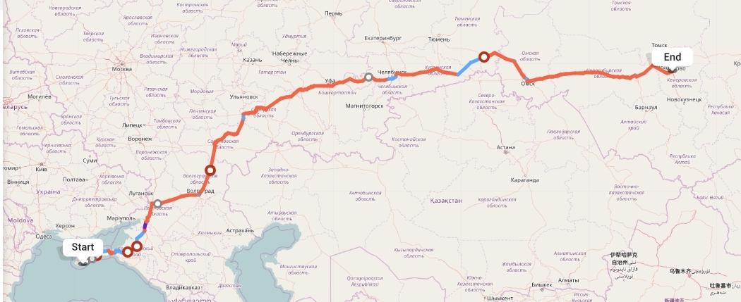 Переезд из Ялты в Кемерово