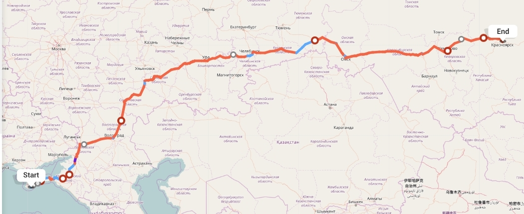 Переезд из Ялты в Красноярск