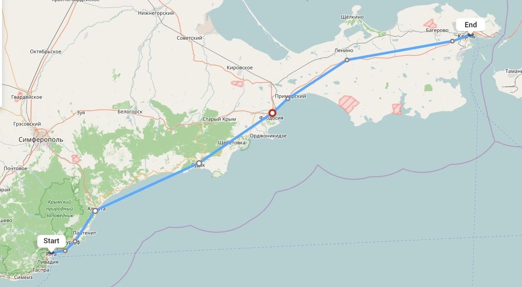 Переезд из Ялты в Крым