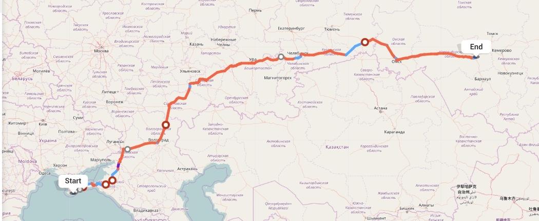 Переезд из Ялты в Новосибирск