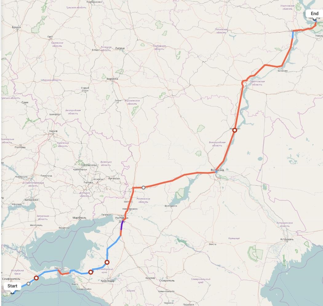 Переезд из Ялты в Тольятти