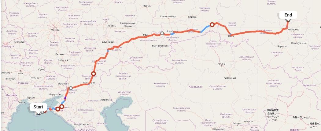 Переезд из Ялты в Томск