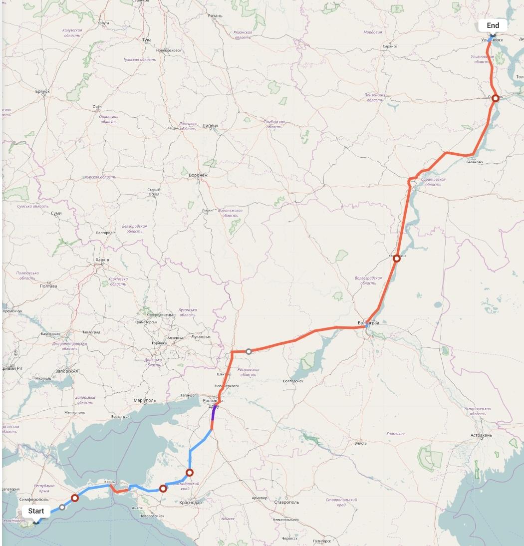 Переезд из Ялты в Ульяновск