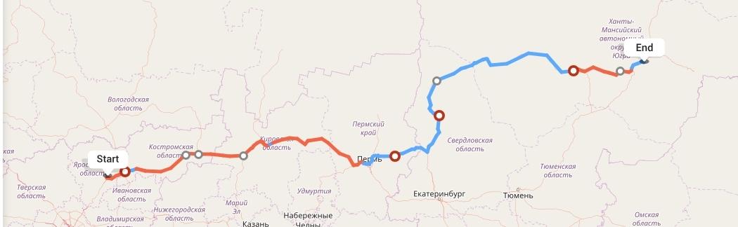 Переезд из Ярославля в Сургут